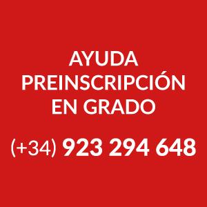 Ayuda Preinscripción en Grado, +34 923 294 648